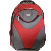 "ECO STYLE 16.1"" Sports Vortex Checkpoint Friendly Backpack, Red/Gray, 19""H x 13""W x 5 3/4""D"