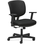 "HON Volt® Center-Tilt Mid-Back Task Chair, Fabric, Black, Seat: 19 1/4""W x 25 3/4""D, Back: 17 1/2""W x 18 1/2""H NEXT2017"