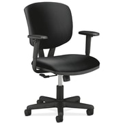 "HON Volt® Center-Tilt Mid-Back Task Chair, Leather, Black, Seat: 19 1/4""W x 25 3/4""D, Back: 17 1/2""W x 18 1/2""H NEXT2017"