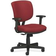 "HON Volt® Synchro-Tilt Mid-Back Task Chair, Fabric, Crimson, Seat: 19 1/4""W x 25 3/4""D, Back: 17 1/2""W x 18 1/2""H NEXT2017"