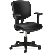HON Volt Task Chair, Synchro-Tilt, Adjustable Arms, Black SofThread Leather NEXT2018 NEXTExpress