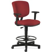 "HON Volt® Swivel Mid-Back Task Stool with Arms, Fabric, Crimson, Seat: 27""W x 29 1/2""D, Back: 16 1/2""W x 20""H NEXT2017"