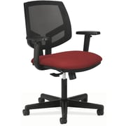 "HON Volt Mid-Back Task Chair w/ Arms, Mesh Back w/ Fabric Seat, Crimson, Seat: 19 1/4""W x 28""D, Back: 18""W x 18 3/4""H NEXT2017"