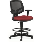 "HON Volt® Mid-Back Task Stool, Mesh Back with Fabric Seat, Crimson, Seat: 27""W x 28""D, Back: 18""W x 18 1/2""H"