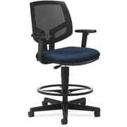 "HON Volt® Mid-Back Task Stool, Mesh Back with Fabric Seat, Navy, Seat: 27""W x 28""D, Back: 18""W x 18 1/2""H"