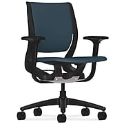 HON® Purpose Task Chair, Cerulean Fabric, Onyx Frame