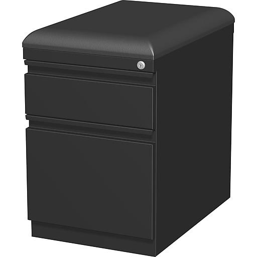 """Staples 2-Drawer Vertical File Cabinet, Locking, Letter/Legal, Black, 19.88""""D (25174D)"""