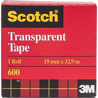 Scotch™ Transparent Tape, Boxed, 19mm x 32.9m, 2/Pack