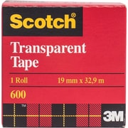 Scotch™ Transparent Tape, Boxed, 19mm x 32.9m, 2/Pack