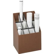 Greenguard 100% Recycled Upright Rolled File, 12 Compartments, Wood Grain