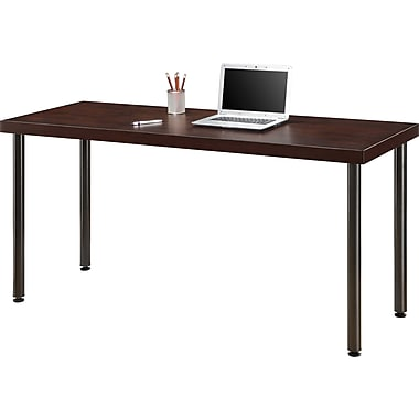 Staples® Integrate Commercial Desk, Cherry