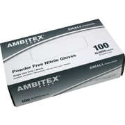 Ambitex® Nitrile Exam Gloves, Powder Free, Small, Black, 100/Bx