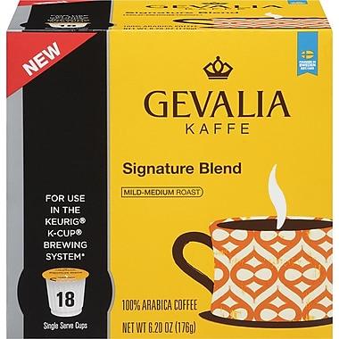 Gevalia Single Serve, Signature Blend Coffee, Regular, 18/Pack