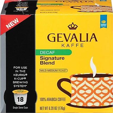 Gevalia Single Serve; Signature Blend Coffee, Decaffeinated, 18/Pack