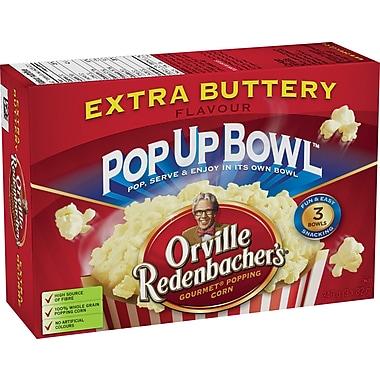 Orville Redenbacher'sMD – Bol de maïs à éclater au micro-ondes Pop Up BowlMC, goût extra beurre, 3 sacs par boîte
