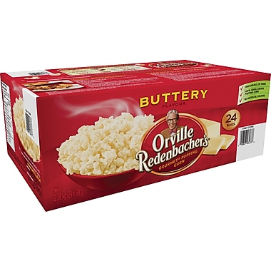 Orville Redenbacher's® Microwave Popcorn, Buttery Flavour, 24 Bags/Box