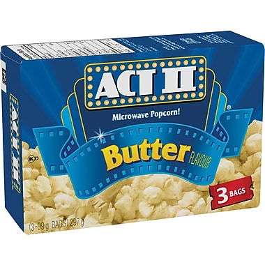 ACT II Microwave Popcorn, Butter Flavour, 3 Bags/Box