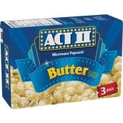 ACT II – Maïs à éclater au micro-ondes, goût de beurre, 3 sacs par boîte