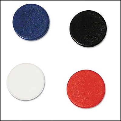 MasterVision Interchangeable Circle Magnets, Assorted Colors, 3/4