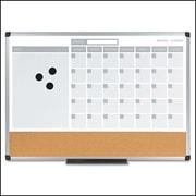 MasterVision® 3 n1 Calendar Planner Board 18x 24, Alum. Frame