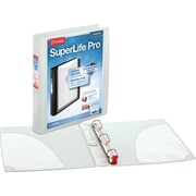 Cardinal SuperLife Pro 1-Inch Slant D 3-Ring Binder, White (54652)