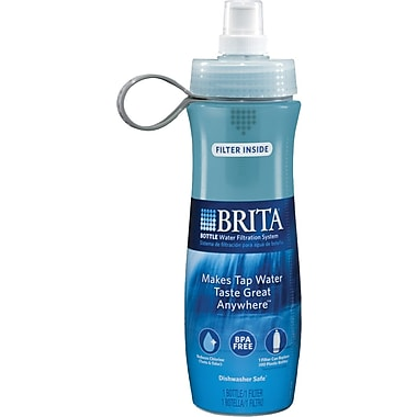 Brita® Soft Squeeze Water Filter Bottle, Aqua