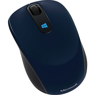 Microsoft Sculpt Mobile Mouse, BlueTrack USB Wireless Mouse, Blue (43U-00011)