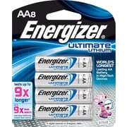 Energizer® e2 Lithium AA Batteries, 8/Pack