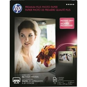 "HP Premium Plus Photo Paper , 8 1/2"" x 11"", Glossy, 50/Pack"