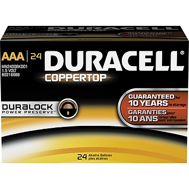 Duracell® Coppertop AAA Alkaline Batteries, 24/Pack
