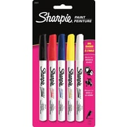 Sharpie® Oil-Based Fine Point Paint Markers, Coloured Markers, 5/Pack
