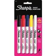 Sharpie® - Marqueurs couleur à base d'huile, pointe fine, paq./5