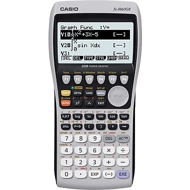 Casio® FX-9860GII Graphing Calculator with Math Input and Output