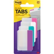 "Post-it® Durable Filing Tabs, 2"" Wide, Assorted Colors, 24 Tabs/Pack (686PWAV)"