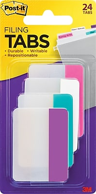 Post-it® Durable Filing Tabs, 2