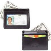Big Skinny Leather Hybrid Open-Sided Mini Skinny Card Case in Tuxedo Black