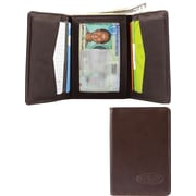 Big Skinny Leather Hybrid Trifold in Chocolate Brown