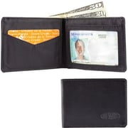Big Skinny Leather Hybrid Compact Sport Bifold in Tuxedo Black