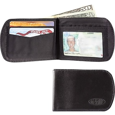 Big Skinny Leather Hybrid Curve Bifold in Tuxedo Black