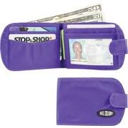 Big Skinny Nylon Microfiber Taxicat Bifold in Electric Purple
