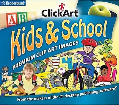 Broderbund ClickArt Kids & School for Windows (1 User) [Download]