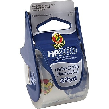 Duck Brand HP260 3.1 mil Crystal Clear Premium Packing Tape 1.88X22.2 YD Single