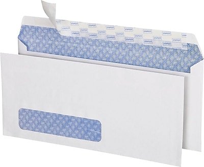 Staples® EasyClose Left Window Privacy Tint #10 Business Envelopes, 4 1/8
