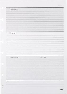 Staples® Arc System Undated Premium Refill Paper, White, 5-1/2