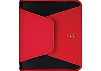 Five Star® Tech®, 1-1/2', 3 Rings, Zipper Binder, Red (72206)