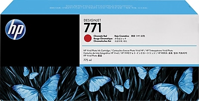 HP Ink Cartridge, 771A (B6Y40A), Chromatic Red, 3/Pack