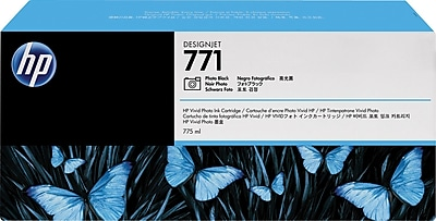 HP Ink Cartridge, 771A (B6Y45A), Photo Black, 3/Pack
