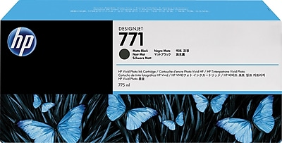 HP 771 Matte Black Ink Cartridges (B6Y39A), 3/Pack