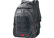 Samsonite Tectonic PFT Black/Red Fabric Laptop Backpack (51531-1073)
