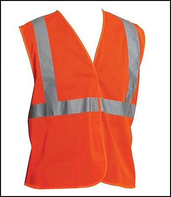 PIP ANSI Class 2 Mesh Safety Vest, Orange, Medium